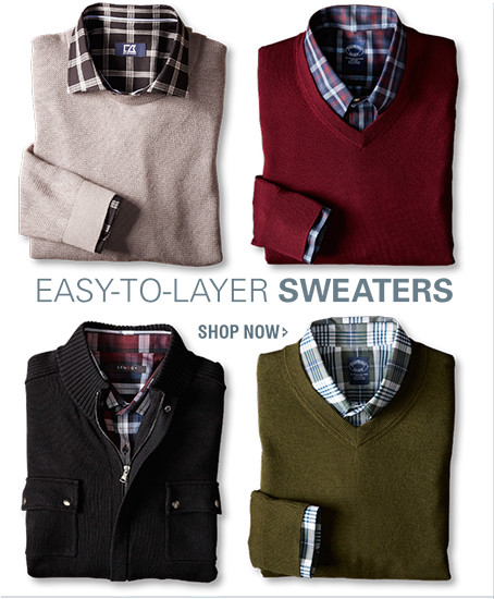 EASY-TO-LAYER SWEATERS | SHOP NOW