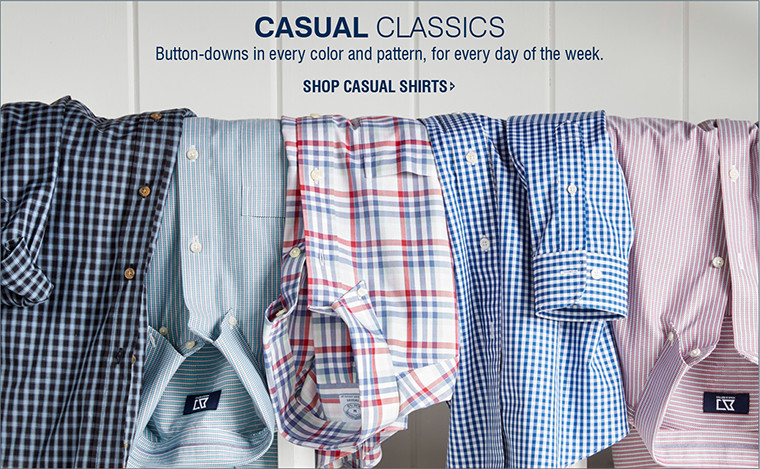 CASUAL CLASSICS | Button-downs in every color and pattern, for every day of the week. | SHOP CASUAL SHIRTS