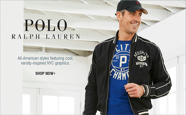 POLO RALPH LAUREN | All-American styles featuring cool, varsity-inspired NYC graphics. | SHOP NOW