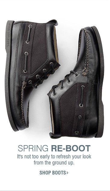 SPRING RE-BOOT | It's not too early to refresh your look from the ground up. | SHOP BOOTS