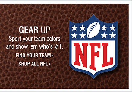GEAR UP | Sport your team colors and show 'em who's #1.
