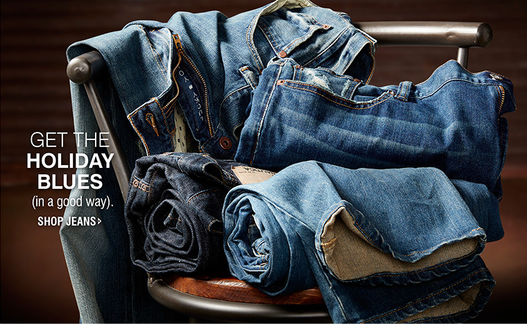 GET THE HOLIDAY BLUES (in a good way). | SHOP JEANS