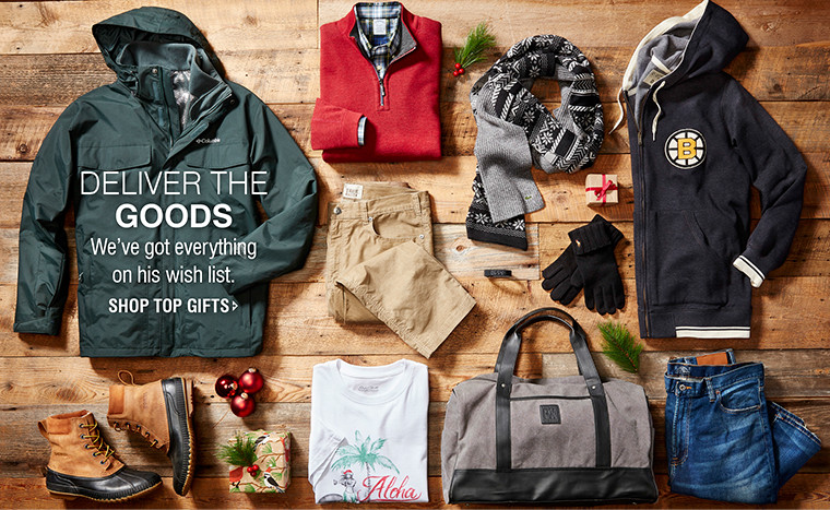 DELIVER THE GOODS | We've got everything on his wish list | SHOP TOP GIFTS