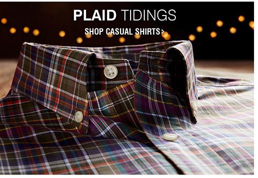 PLAID TIDINGS | SHOP CASUAL SHIRTS