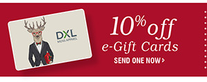 10% off e-Gift Cards | SEND ONE NOW
