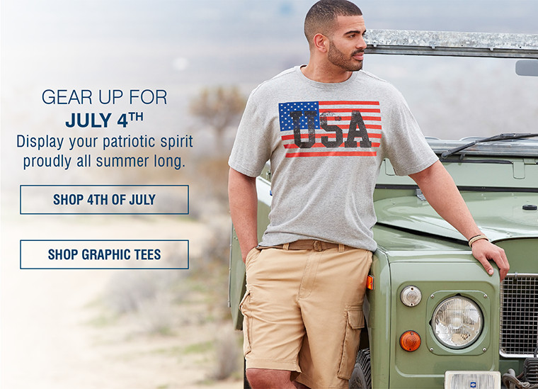 GEAR UP FOR JULY 4TH | Display your patriotic spirit proudly all summer long.