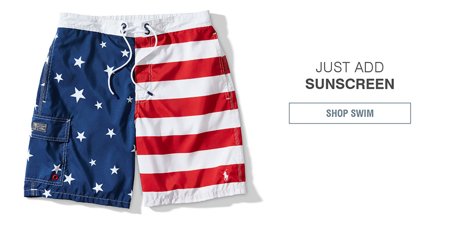 JUST ADD SUNSCREEN | SHOP SWIM