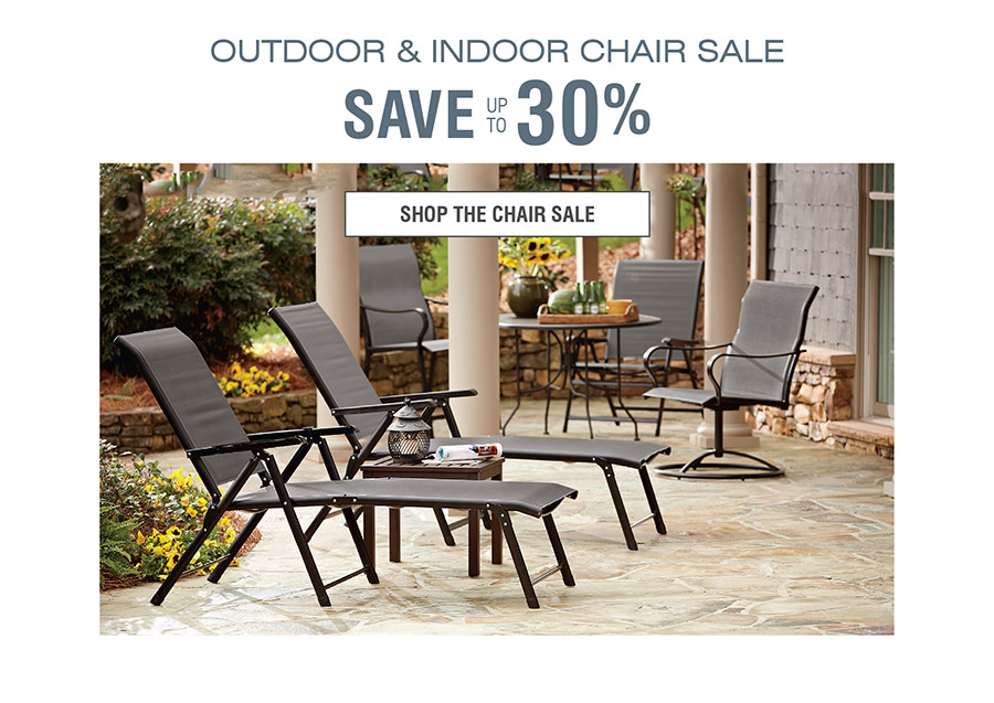 OUTDOOR & INDOOR CHAIR SALE | SAVE UP TO 30% | SHOP THE CHAIR SALE