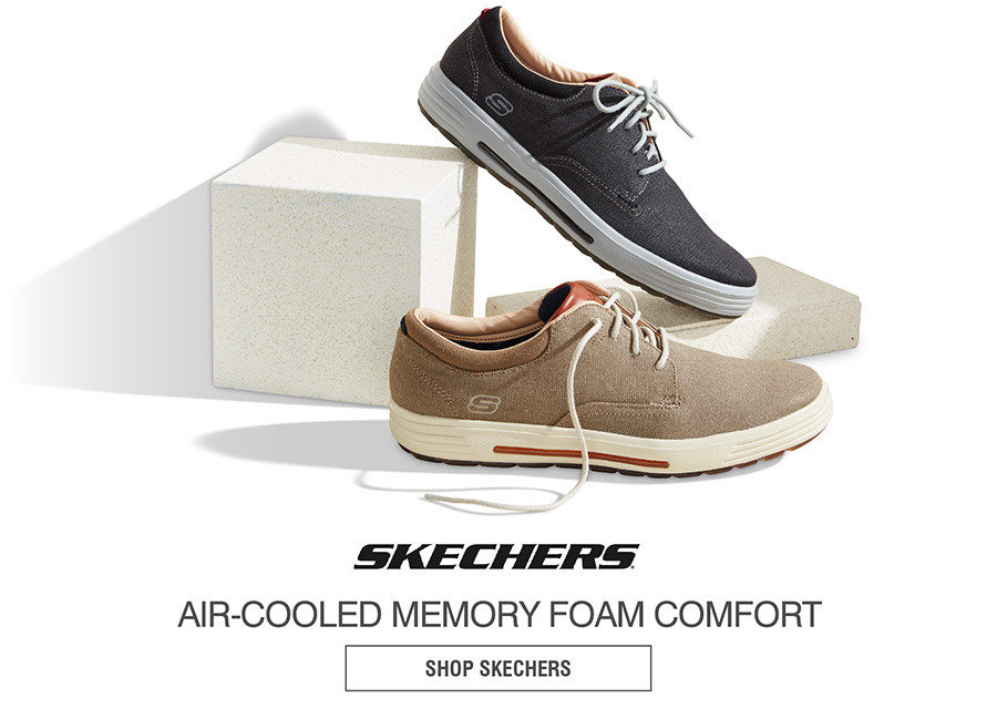 AIR-COOLED MEMORY FOAM COMFORT. SHOP SKECHERS