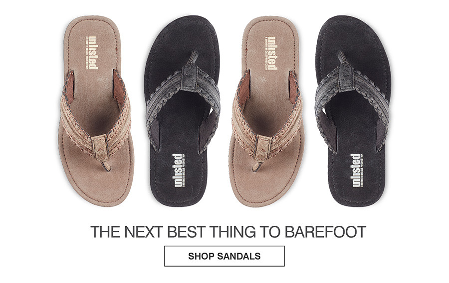 THE NEXT BEST THING TO BAREFOOT. SHOP SANDALS