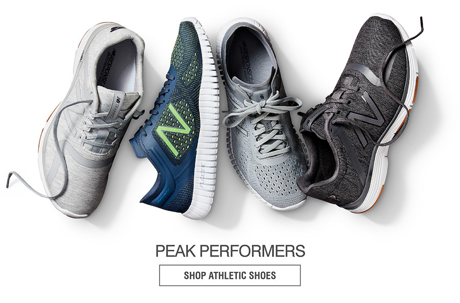 PEAK PERFORMANCES. SHOP ATHLETIC SHOES