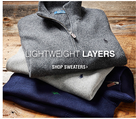 LIGHTWEIGHT LAYERS | SHOP SWEATERS