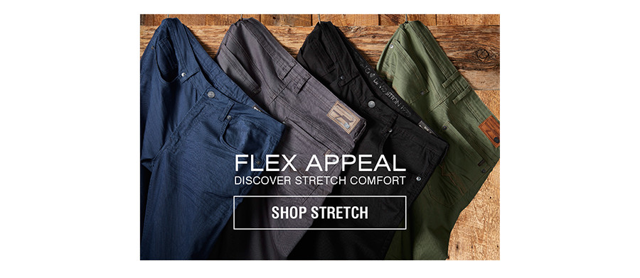 FLEX APPEAL | DISCOVER STRETCH COMFORT | SHOP STRETCH