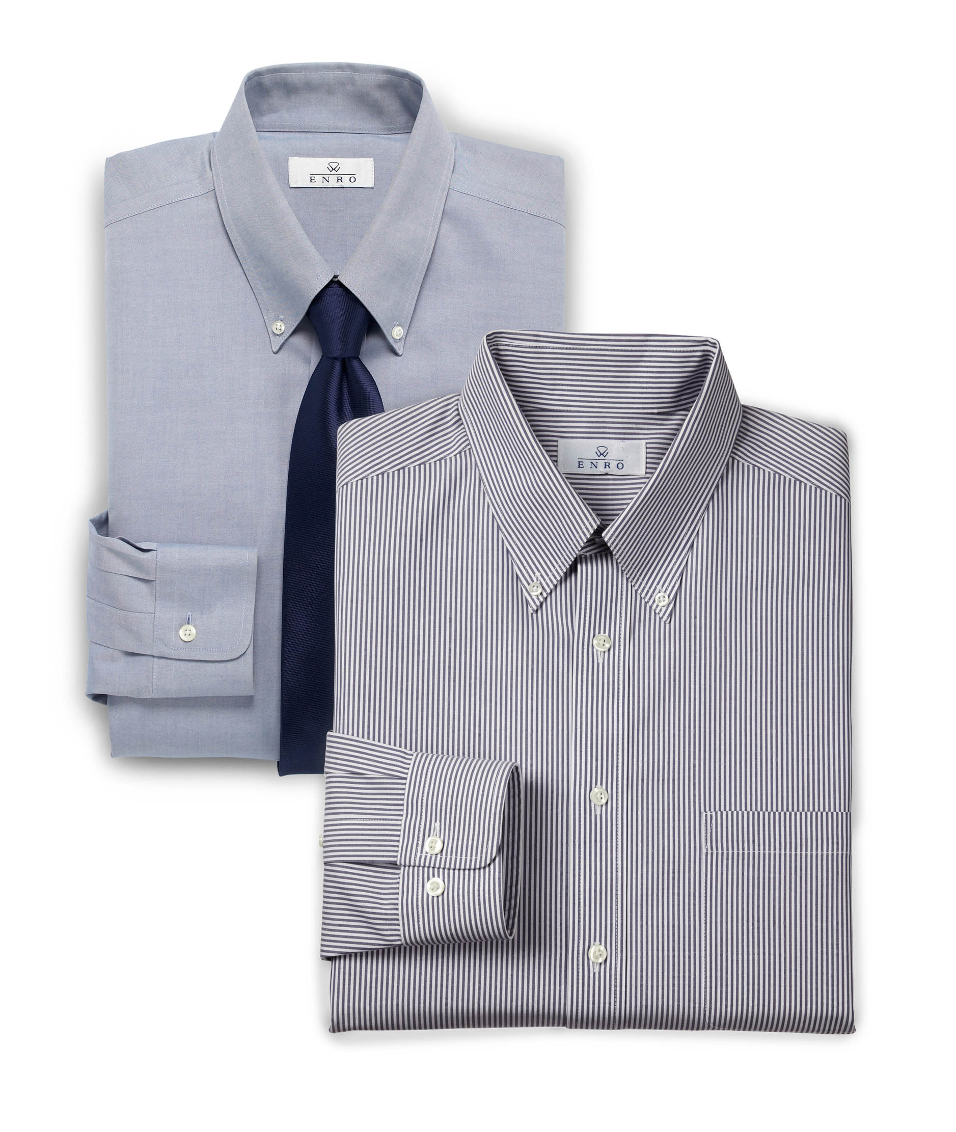 MIX & MATCH ENRO $80 LONG-SLEEVE DRESS SHIRTS