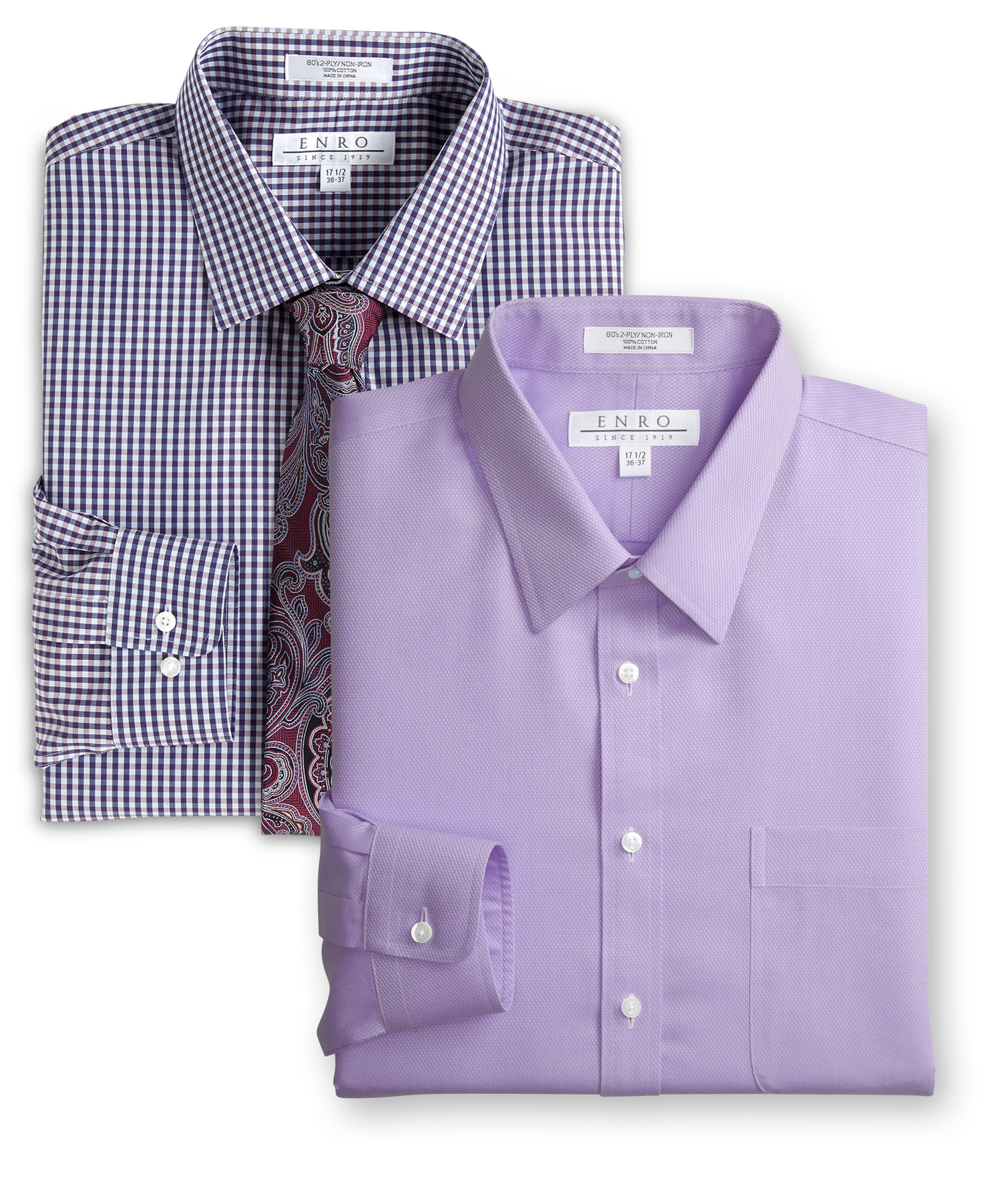 MIX & MATCH ENRO $75 LONG-SLEEVE DRESS SHIRTS