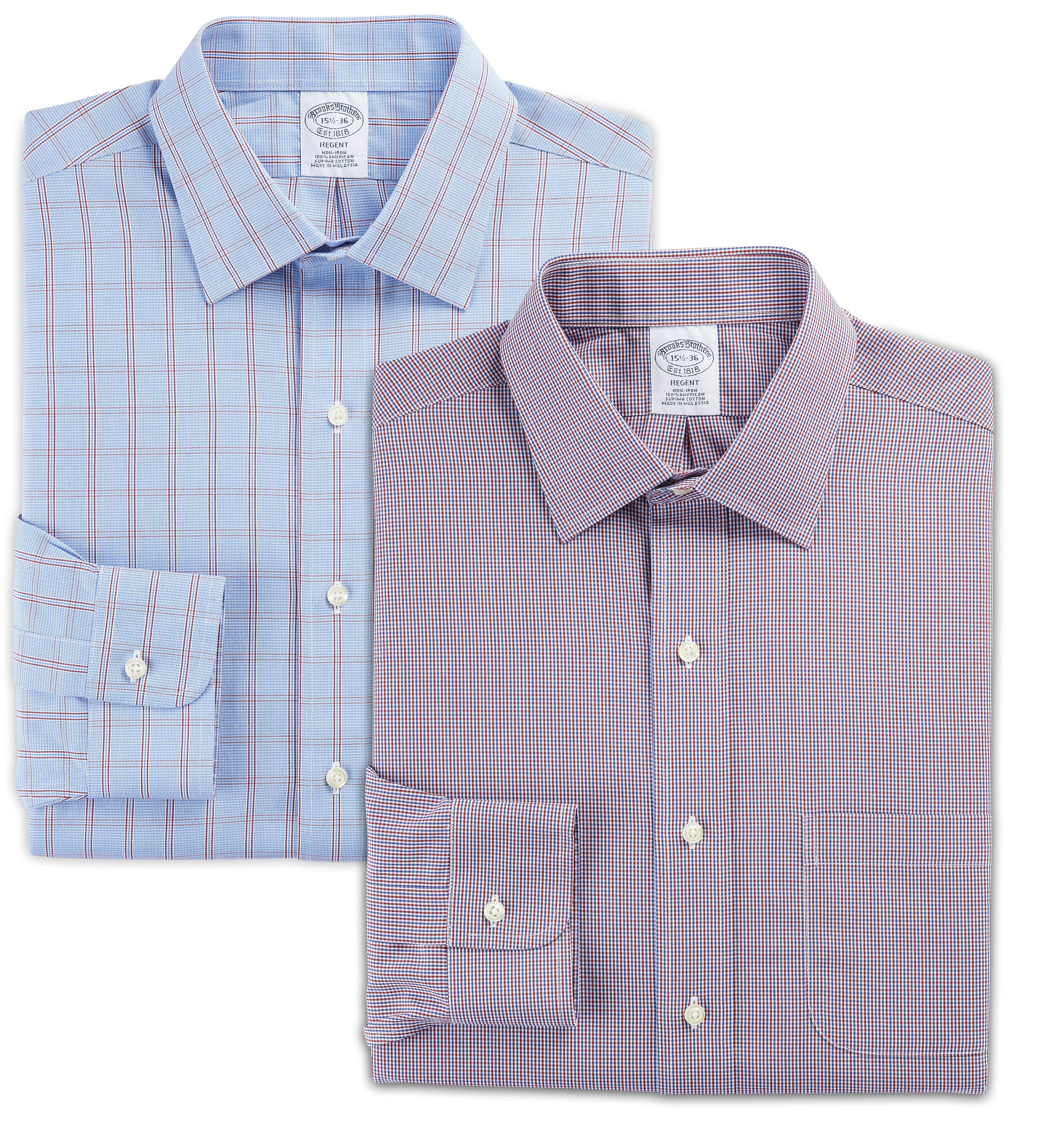 MIX & MATCH BROOKS BROTHERS LONG-SLEEVE DRESS SHIRTS