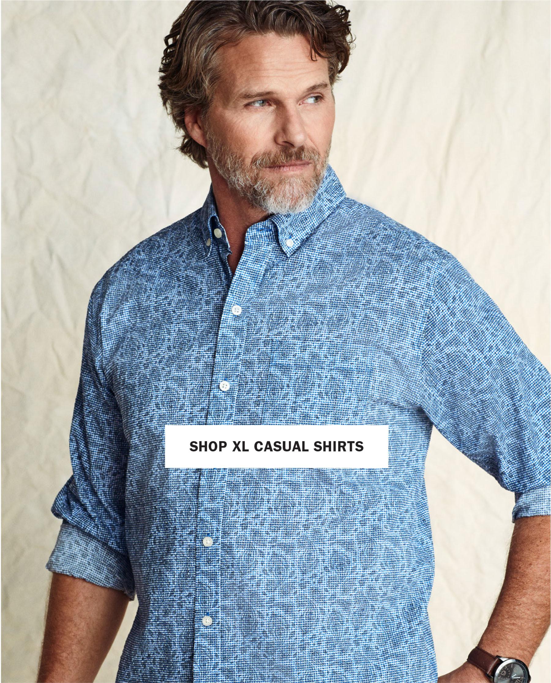 SHOP XL Casual Shirts