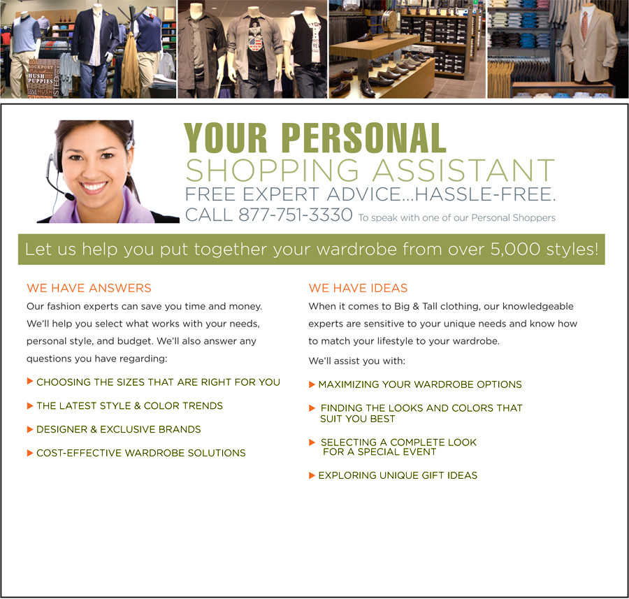 YOUR PERSONAL SHOPPING ASSISTANT | FREE EXPERT ADVICE...HASSLE-FREE | CALL 877-751-3330