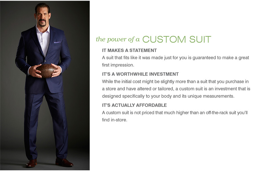 the power of a CUSTOM SUIT