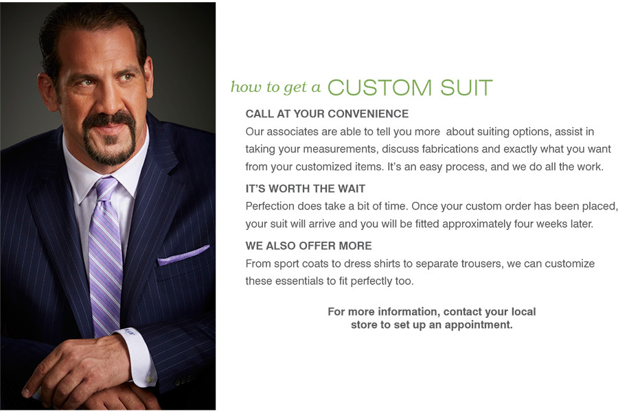 how to get a CUSTOM SUIT