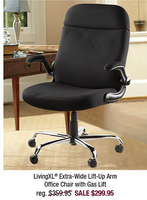LivingXL® Extra-Wide Lift-Up Arm Office Chair with Gas Lift