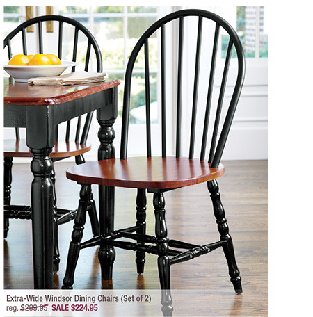 Extra-Wide Windsor Dining Chairs (Set of 2)