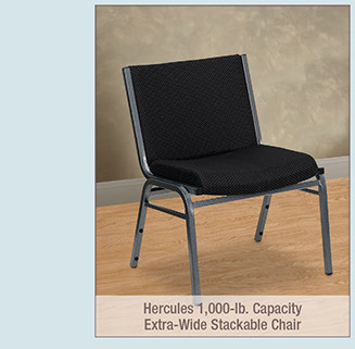 Hercules 1,000-lb. Capacity Extra-Wide Stackable Chair