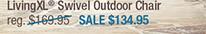 LivingXL® Swivel Outdoor Chair