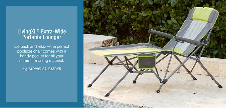 LivingXL® Extra-Wide Portable Lounger