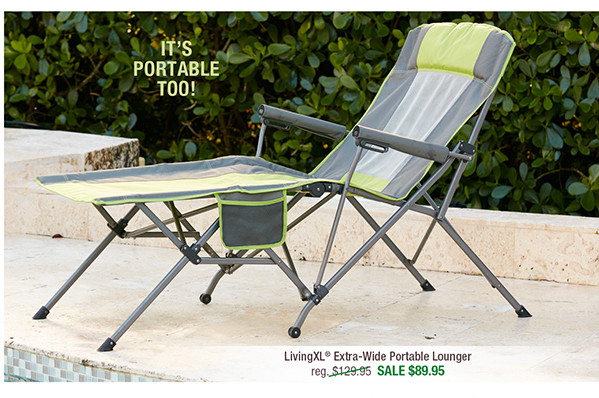 LivingXL Extra-Wide Portable Lounger