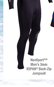 NeoSport Mens 3mm XSPAN® Back-Zip Jumpsuit– Extended Sizes