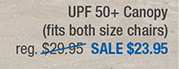 UPF 50+ Canopy for Heavy-Duty Portable Chairs