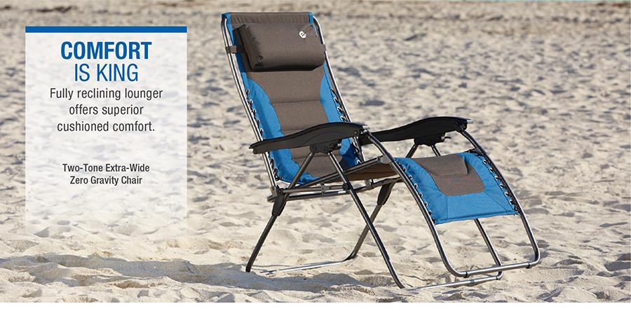 Two-Tone Extra-Wide Zero Gravity Chair