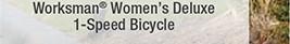 Worksman® Women's Deluxe 1-Speed Bicycle