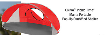 ONIVA™ Picnic Time® Manta Portable Pop-Up Sun/Wind Shelter