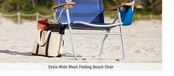 Extra-Wide Mesh Folding Beach Chair