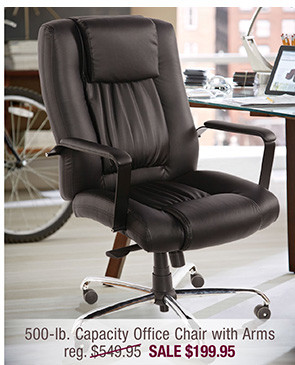 500-lb. Capacity Executive Leather Office Chair with Gas Lift