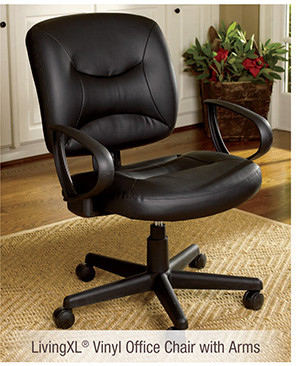 LivingXL® Vinyl Office Chair with Arms