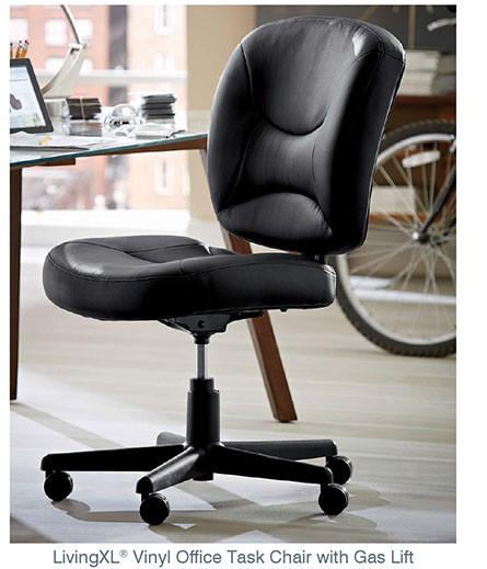 LivingXL® Vinyl Office Task Chair with Gas Lift