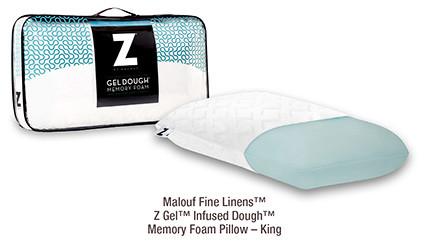 Malouf Fine Linens Z Gel Infused Dough Memory Foam Pillow King