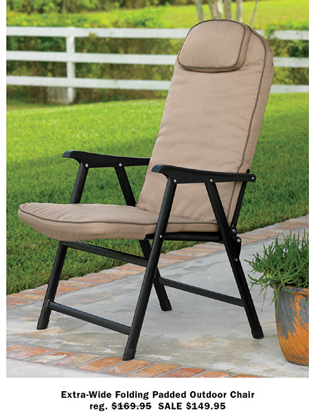 $99.95 SALE $79.95 · Extra Wide Folding Padded Outdoor Chair Part 9