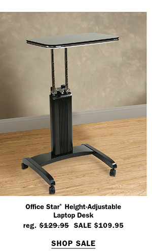 Office Star® Height-Adjustable Laptop Desk