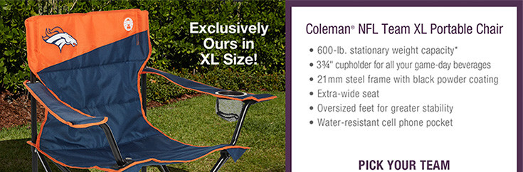 Coleman® NFL Team XL Portable Chair - Denver
