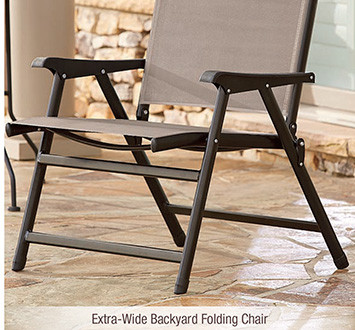 Extra-Wide Backyard Folding Chair