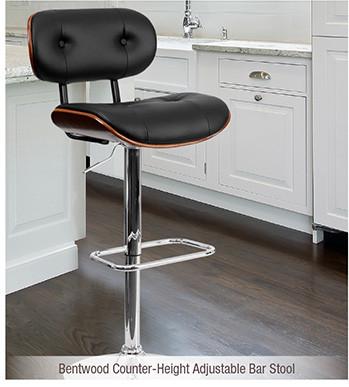 Bentwood Counter-Height Adjustable Bar Stool