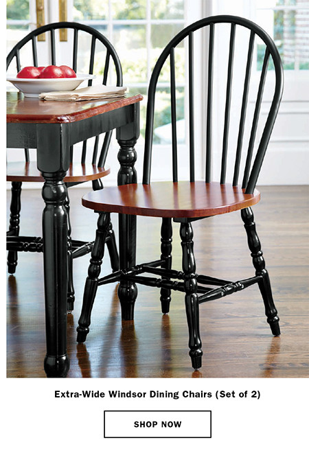 Extra-Wide Windsor Dining Chairs (Set of 2) Item # X2243