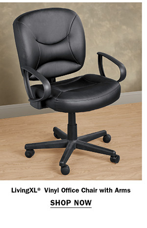 LivingXL® Vinyl Office Chair with Arms Item #X2060