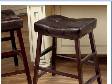 LivingXL® Extra-Wide Faux-Leather Bar Stool x2000