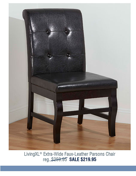 LivingXL® Extra-Wide Faux-Leather Parsons Chair X2608