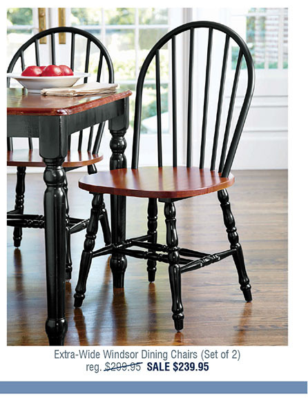 Extra-Wide Windsor Dining Chairs (Set of 2) X2243